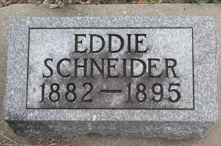 SCHNEIDER, EDDIE - Stanton County, Nebraska | EDDIE SCHNEIDER - Nebraska Gravestone Photos