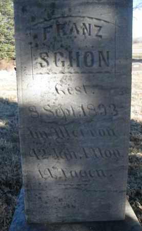 SCHON, FRANZ (CLOSEUP) - Stanton County, Nebraska | FRANZ (CLOSEUP) SCHON - Nebraska Gravestone Photos