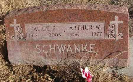 SCHWANKE, ARTHUR W. - Stanton County, Nebraska | ARTHUR W. SCHWANKE - Nebraska Gravestone Photos