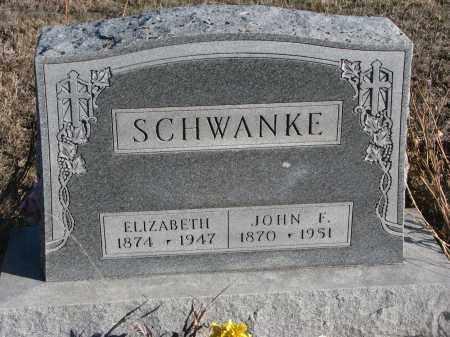 SCHWANKE, JOHN F. - Stanton County, Nebraska | JOHN F. SCHWANKE - Nebraska Gravestone Photos