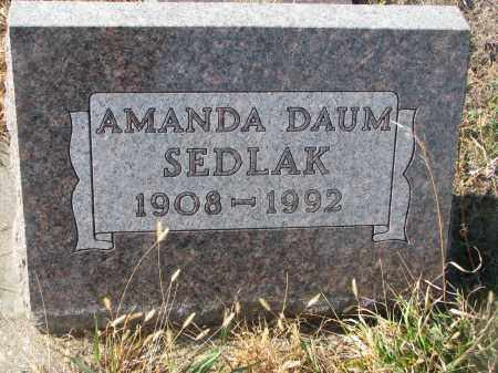 DAUM SEDLAK, AMANDA - Stanton County, Nebraska   AMANDA DAUM SEDLAK - Nebraska Gravestone Photos