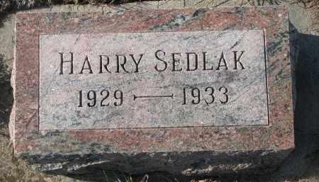 SEDLAK, HARRY - Stanton County, Nebraska | HARRY SEDLAK - Nebraska Gravestone Photos