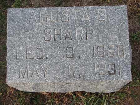 SHARP, AGUSTA S. - Stanton County, Nebraska | AGUSTA S. SHARP - Nebraska Gravestone Photos