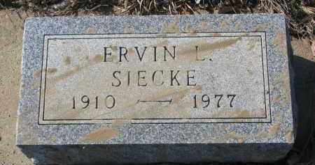 SIECKE, ERVIN L. - Stanton County, Nebraska   ERVIN L. SIECKE - Nebraska Gravestone Photos