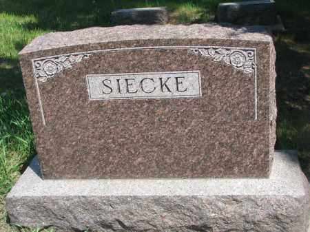 SIECKE, FAMILY STONE - Stanton County, Nebraska   FAMILY STONE SIECKE - Nebraska Gravestone Photos