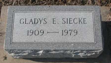 SIECKE, GLADYS E. - Stanton County, Nebraska | GLADYS E. SIECKE - Nebraska Gravestone Photos