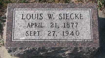 SIECKE, LOUIS W. - Stanton County, Nebraska | LOUIS W. SIECKE - Nebraska Gravestone Photos