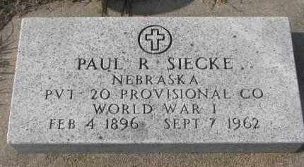 SIECKE, PAUL R. - Stanton County, Nebraska | PAUL R. SIECKE - Nebraska Gravestone Photos