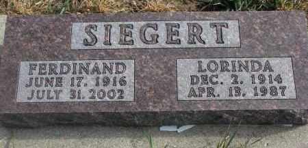 SIEGERT, FERDINAND - Stanton County, Nebraska | FERDINAND SIEGERT - Nebraska Gravestone Photos
