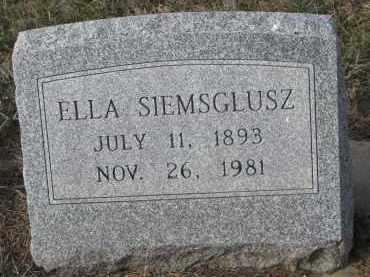SIEMSGLUSZ, ELLA - Stanton County, Nebraska | ELLA SIEMSGLUSZ - Nebraska Gravestone Photos