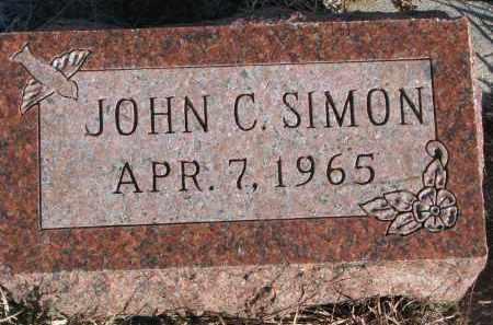SIMON, JOHN C. - Stanton County, Nebraska | JOHN C. SIMON - Nebraska Gravestone Photos