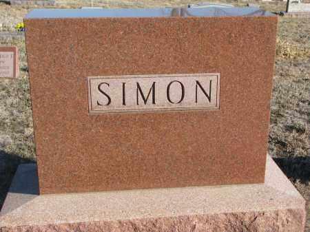 SIMON, PLOT STONE - Stanton County, Nebraska   PLOT STONE SIMON - Nebraska Gravestone Photos