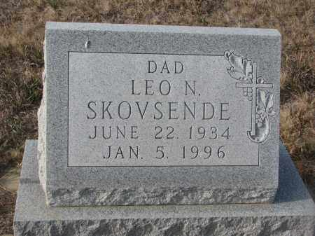SKOVSENDE, LEO N. - Stanton County, Nebraska | LEO N. SKOVSENDE - Nebraska Gravestone Photos