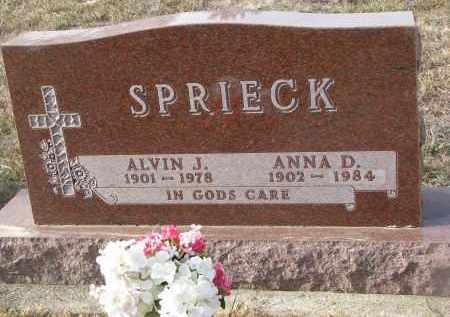SPRIECK, ALVIN J. - Stanton County, Nebraska   ALVIN J. SPRIECK - Nebraska Gravestone Photos