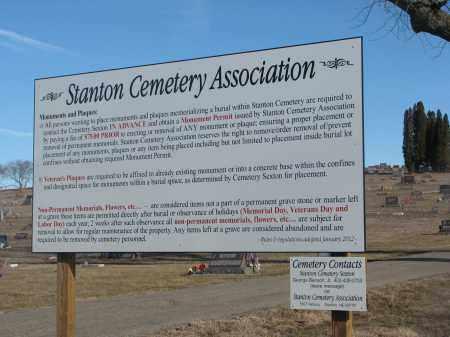 *STANTON, SIGN - Stanton County, Nebraska | SIGN *STANTON - Nebraska Gravestone Photos