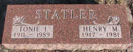 STATLER, HENRY M. - Stanton County, Nebraska   HENRY M. STATLER - Nebraska Gravestone Photos