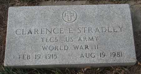 STRADLEY, CLARENCE E. (WW II) - Stanton County, Nebraska | CLARENCE E. (WW II) STRADLEY - Nebraska Gravestone Photos