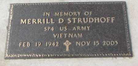 STRUDTHOFF, MERRILL D. - Stanton County, Nebraska | MERRILL D. STRUDTHOFF - Nebraska Gravestone Photos