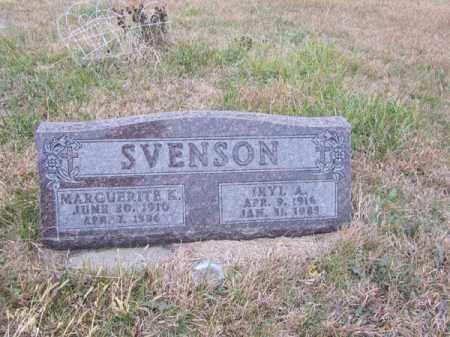 SVENSON, MARGUERITE K - Stanton County, Nebraska | MARGUERITE K SVENSON - Nebraska Gravestone Photos