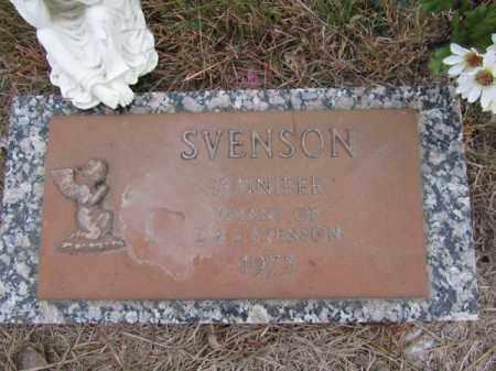 SVENSON, JENNIFER - Stanton County, Nebraska | JENNIFER SVENSON - Nebraska Gravestone Photos