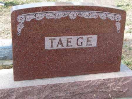TAEGE, PLOT STONE - Stanton County, Nebraska   PLOT STONE TAEGE - Nebraska Gravestone Photos