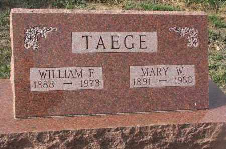 TAGGE, MARY W. - Stanton County, Nebraska | MARY W. TAGGE - Nebraska Gravestone Photos