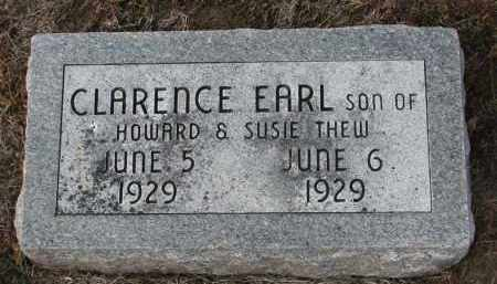 THEW, CLARENCE EARL - Stanton County, Nebraska | CLARENCE EARL THEW - Nebraska Gravestone Photos