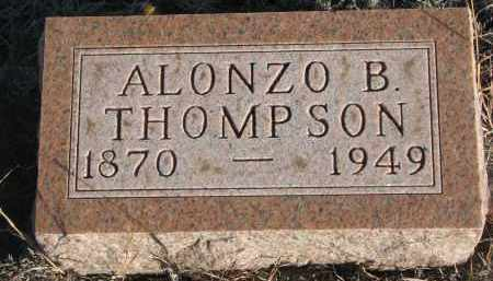 THOMPSON, ALONZO B. - Stanton County, Nebraska | ALONZO B. THOMPSON - Nebraska Gravestone Photos