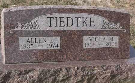 TIEDTKE, VIOLA M. - Stanton County, Nebraska | VIOLA M. TIEDTKE - Nebraska Gravestone Photos