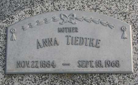 TIEDTKE, ANNA - Stanton County, Nebraska | ANNA TIEDTKE - Nebraska Gravestone Photos