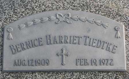 TIEDTKE, BERNICE HARRIET - Stanton County, Nebraska | BERNICE HARRIET TIEDTKE - Nebraska Gravestone Photos