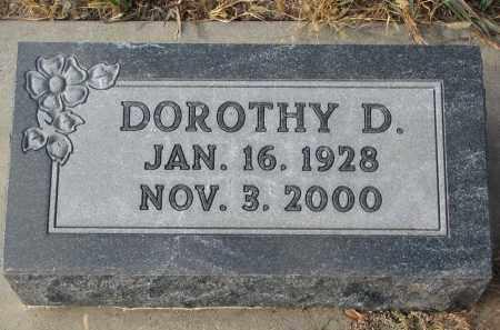 TIEDTKE, DOROTHY D. - Stanton County, Nebraska   DOROTHY D. TIEDTKE - Nebraska Gravestone Photos