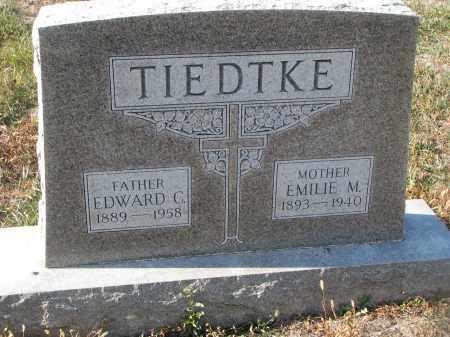 TIEDTKE, EDWARD C. - Stanton County, Nebraska | EDWARD C. TIEDTKE - Nebraska Gravestone Photos