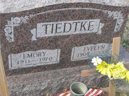 TIEDTKE, EMORY - Stanton County, Nebraska | EMORY TIEDTKE - Nebraska Gravestone Photos