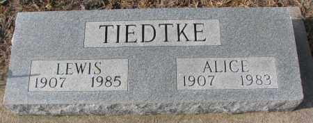 TIEDTKE, ALICE - Stanton County, Nebraska | ALICE TIEDTKE - Nebraska Gravestone Photos