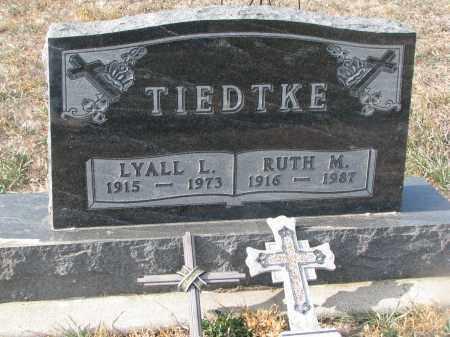TIEDTKE, LYALL L. - Stanton County, Nebraska   LYALL L. TIEDTKE - Nebraska Gravestone Photos