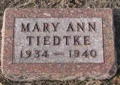 TIEDTKE, MARY ANN - Stanton County, Nebraska | MARY ANN TIEDTKE - Nebraska Gravestone Photos