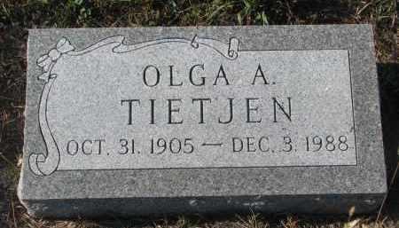 TIETJEN, OLGA A. - Stanton County, Nebraska | OLGA A. TIETJEN - Nebraska Gravestone Photos