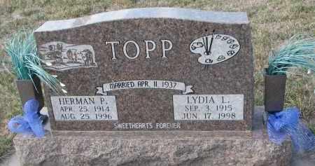TOPP, LYDIA L. - Stanton County, Nebraska | LYDIA L. TOPP - Nebraska Gravestone Photos