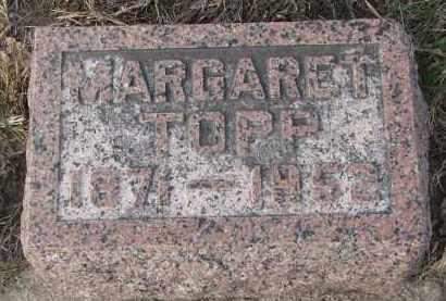 TOPP, MARGARET - Stanton County, Nebraska | MARGARET TOPP - Nebraska Gravestone Photos