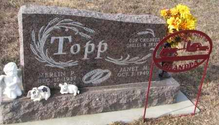 TOPP, JANET M. - Stanton County, Nebraska | JANET M. TOPP - Nebraska Gravestone Photos