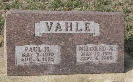 VAHLE, PAUL H. - Stanton County, Nebraska | PAUL H. VAHLE - Nebraska Gravestone Photos