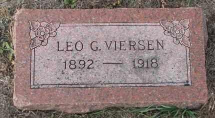 VIERSEN, LEO G. - Stanton County, Nebraska | LEO G. VIERSEN - Nebraska Gravestone Photos