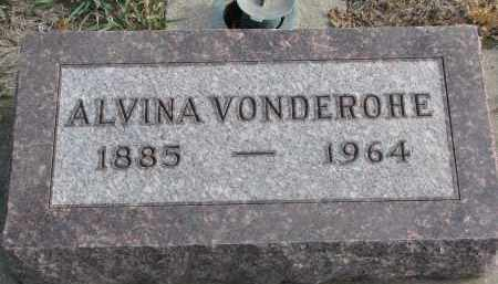 VONDEROHE, ALVINA - Stanton County, Nebraska | ALVINA VONDEROHE - Nebraska Gravestone Photos