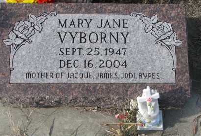 VYBORNY, MARY JANE - Stanton County, Nebraska | MARY JANE VYBORNY - Nebraska Gravestone Photos