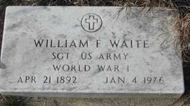 WAITE, WILLIAM F. - Stanton County, Nebraska | WILLIAM F. WAITE - Nebraska Gravestone Photos