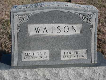 WATSON, MATILDA E. - Stanton County, Nebraska | MATILDA E. WATSON - Nebraska Gravestone Photos