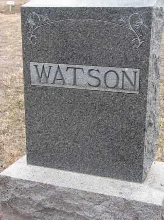 WATSON, PLOT STONE - Stanton County, Nebraska | PLOT STONE WATSON - Nebraska Gravestone Photos