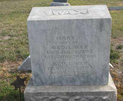 WAX, MARY - Stanton County, Nebraska | MARY WAX - Nebraska Gravestone Photos