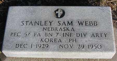 WEBB, STANLEY SAM - Stanton County, Nebraska | STANLEY SAM WEBB - Nebraska Gravestone Photos